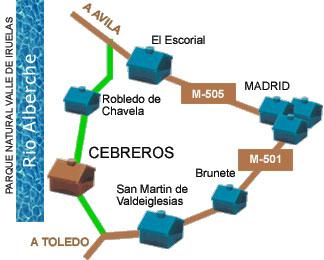 Plano de acceso de Hotel El Castrejon
