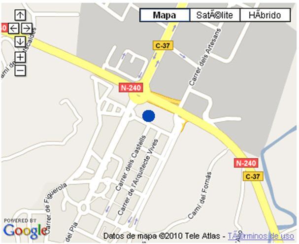 Plano de acceso de Hotel Class Valls