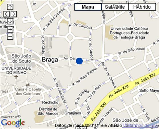 Plano de acceso de Hotel Albergaria Bracara Augusta
