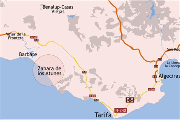 Plano de acceso de Hotel Cortijo De Zahara