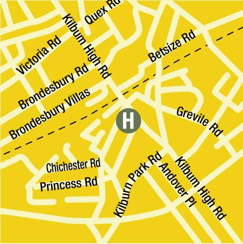 Plano de acceso de Hotel Quality Maitrise Maida Vale