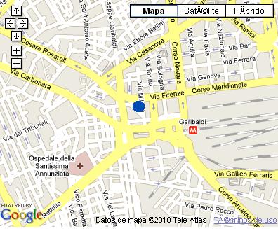 Plano de acceso de Hotel De La Ville