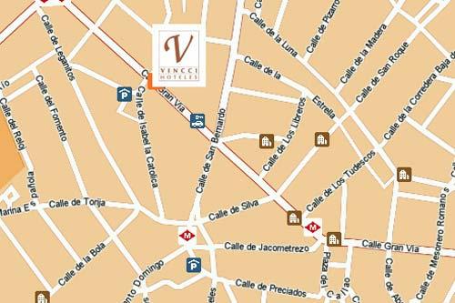 Plano de acceso de Hotel Vincci Via 66-Exclusive