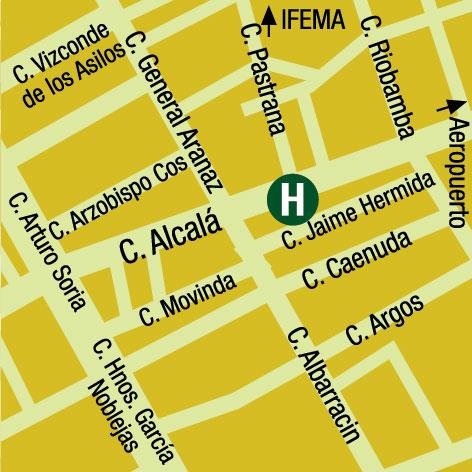 Plano de acceso de Hotel Velada Madrid -Exclusive