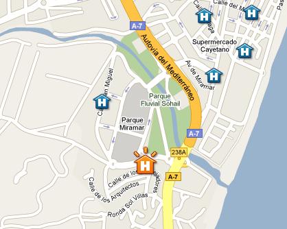 Plano de acceso de Hotel Fuengirola Beach
