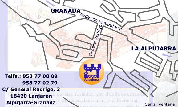 Plano de acceso de Hotel Alcadima