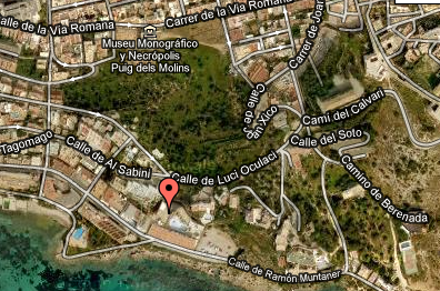 Plano de acceso de Apartamentos Tropical Garden