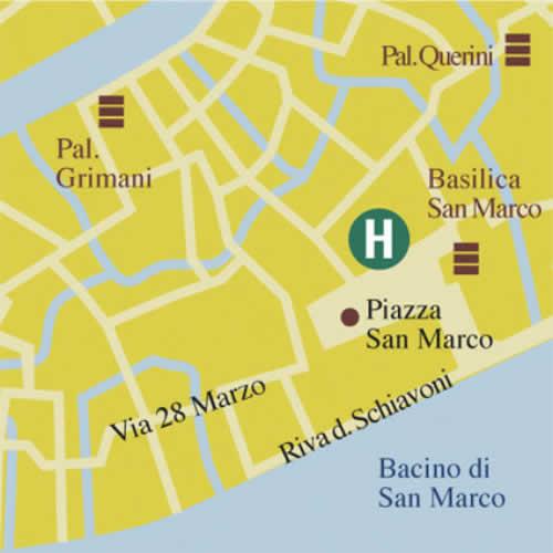 Plano de acceso de Hotel Concordia Venecia-Exclusive