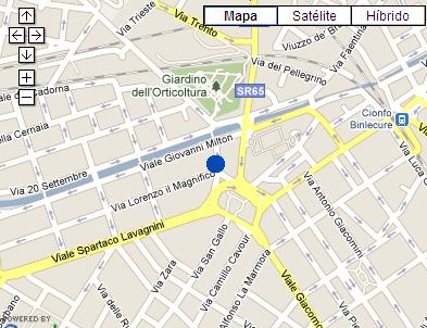 Plano de acceso de Hotel San Gallo Palace