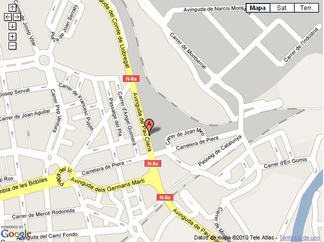 Plano de acceso de Hotel Ac Martorell