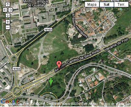 Plano de acceso de Melia Braga Hotel And Spa