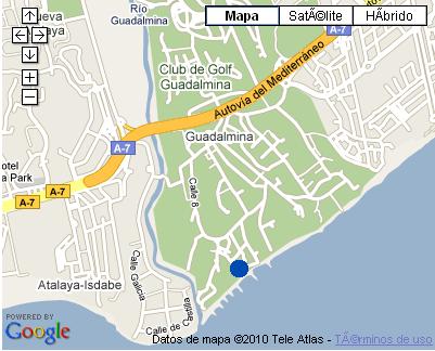 Plano de acceso de Hotel Guadalmina