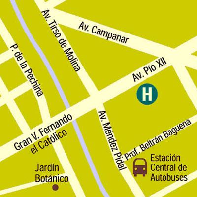 Plano de acceso de Hotel Expo Valencia Exclusive