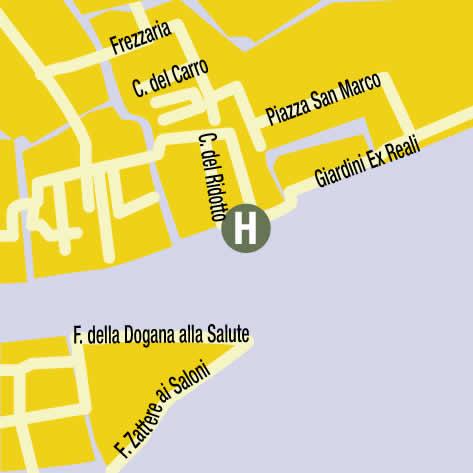 Plano de acceso de Hotel Monaco And Grand Canal