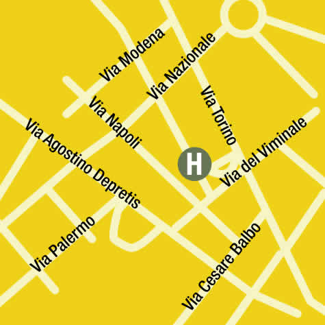 Plano de acceso de Iq Hotel Roma