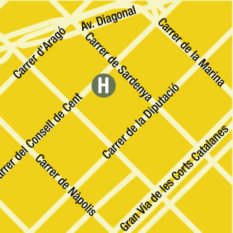 Plano de acceso de Hotel Sant Antoni
