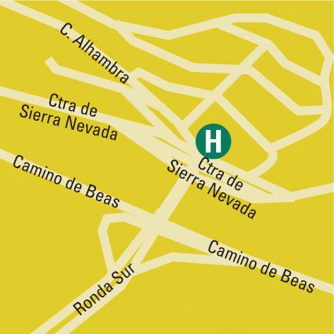 Plano de acceso de Hotel Macia Real De La Alhambra Exclusive