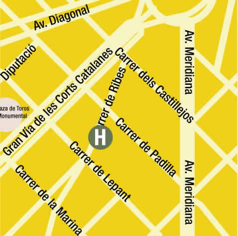 Plano de acceso de Hotel Del Teatre Auditori