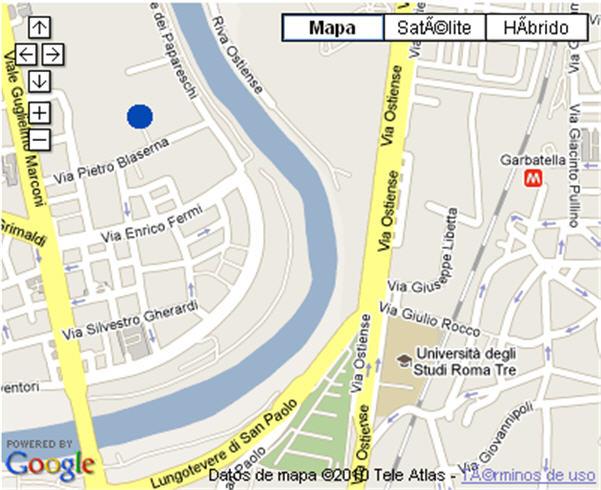 Plano de acceso de Hotel H10 Roma Cittá