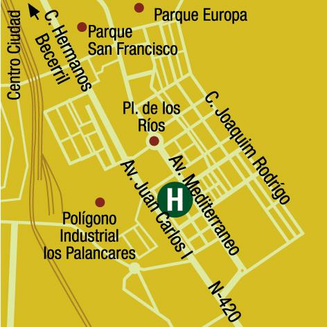 Plano de acceso de Hotel Ac Cuenca