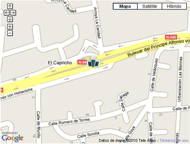 Plano de acceso de Hotel G H Guadalpin Marbella And Spa