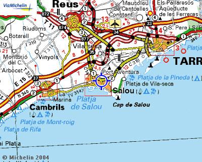 Plano de acceso de Hotel H10 Salauris Palace