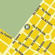 Plano de acceso de Hotel Panama Garden Exclusive