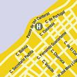 Plano de acceso de Hotel Eurostars Las Canteras