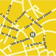Plano de acceso de Hotel Magistral