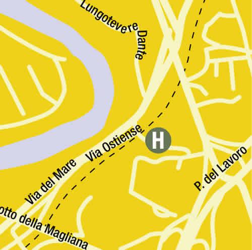 Plano de acceso de Hotel Area