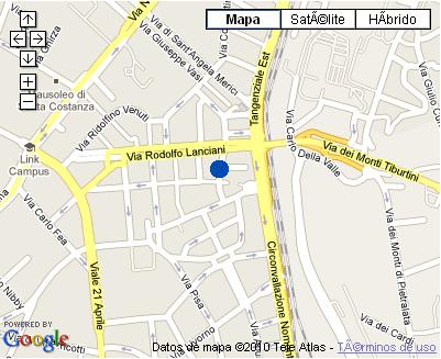 Plano de acceso de Osimar Hotel