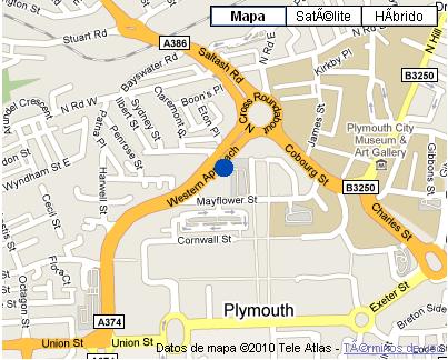 Plano de acceso de Copthorne Hotel Plymouth