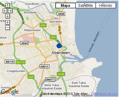 Plano de acceso de Copthorne Hotel Aberdeen