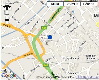 Plano de acceso de Copthorne Hotel Birmingham