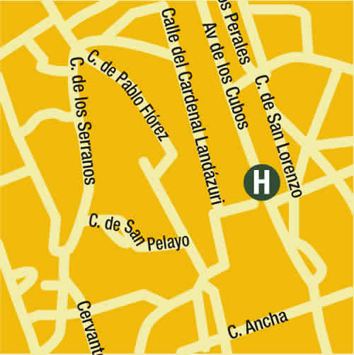 Plano de acceso de Hotel Q!H Centro Leon