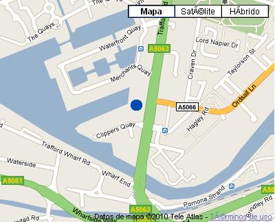 Plano de acceso de Copthorne Hotel Manchester