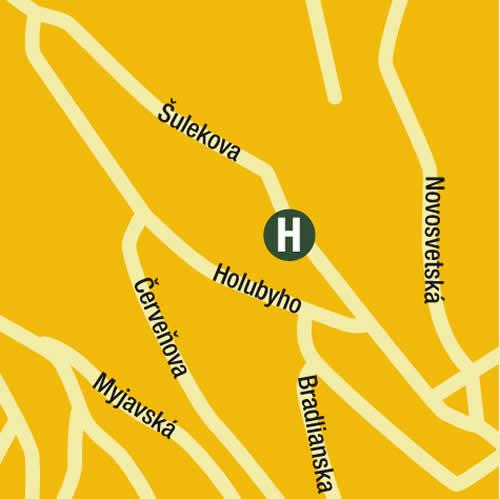 Plano de acceso de Hotel Antares