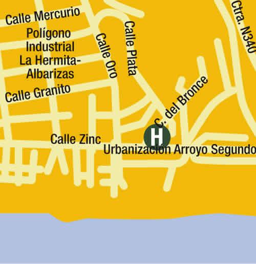 Plano de acceso de Hotel Los Monteros