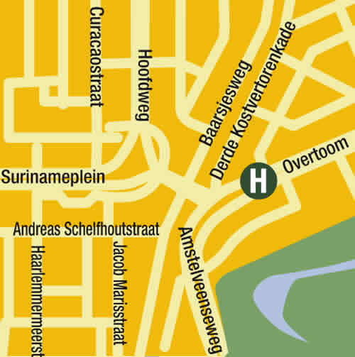 Plano de acceso de Conscious Hotel Vondelpark