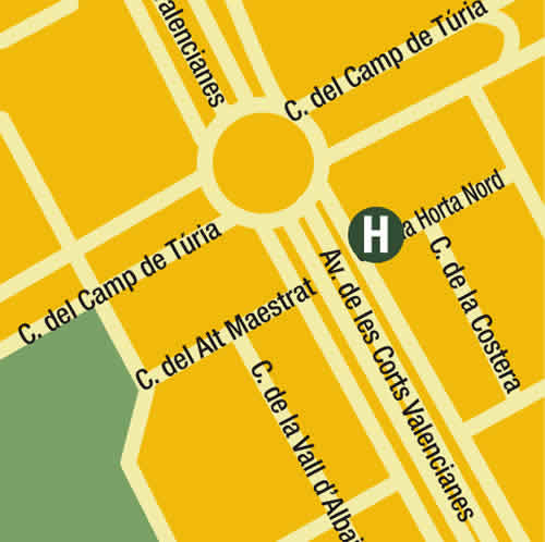 Plano de acceso de Hotel Sorolla Palace