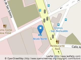 Plano de acceso de Hotel Confortel Alcala Norte