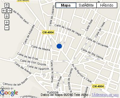 Plano de acceso de Hotel Central De Yuncos