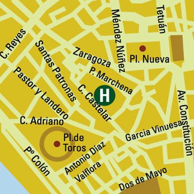 Plano de acceso de Hotel Vincci La Rabida
