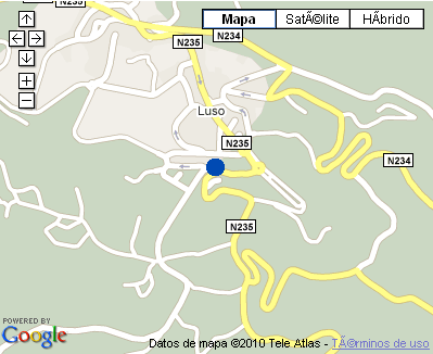 Plano de acceso de Hotel Alegre