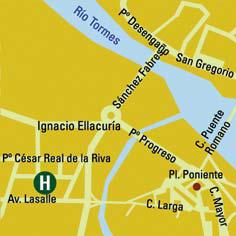 Plano de acceso de Hotel Vincci Ciudad De Salamanca