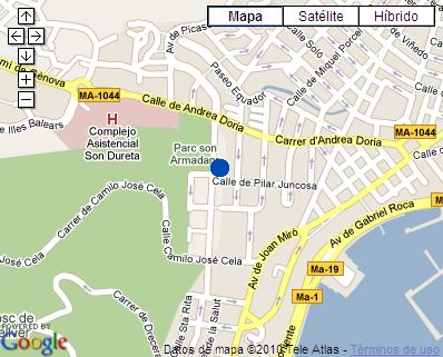 Plano de acceso de Hotel Araxa