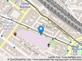 Plano de acceso de Hotel Best Roma