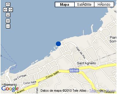Plano de acceso de Hotel Mediterraneo