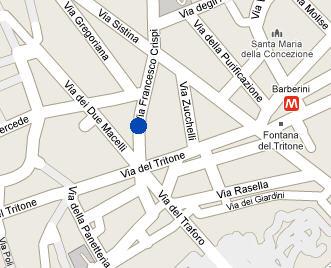 Plano de acceso de Hotel La Fenice