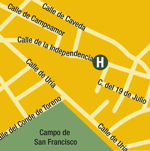 Plano de acceso de Hotel Longoria Plaza